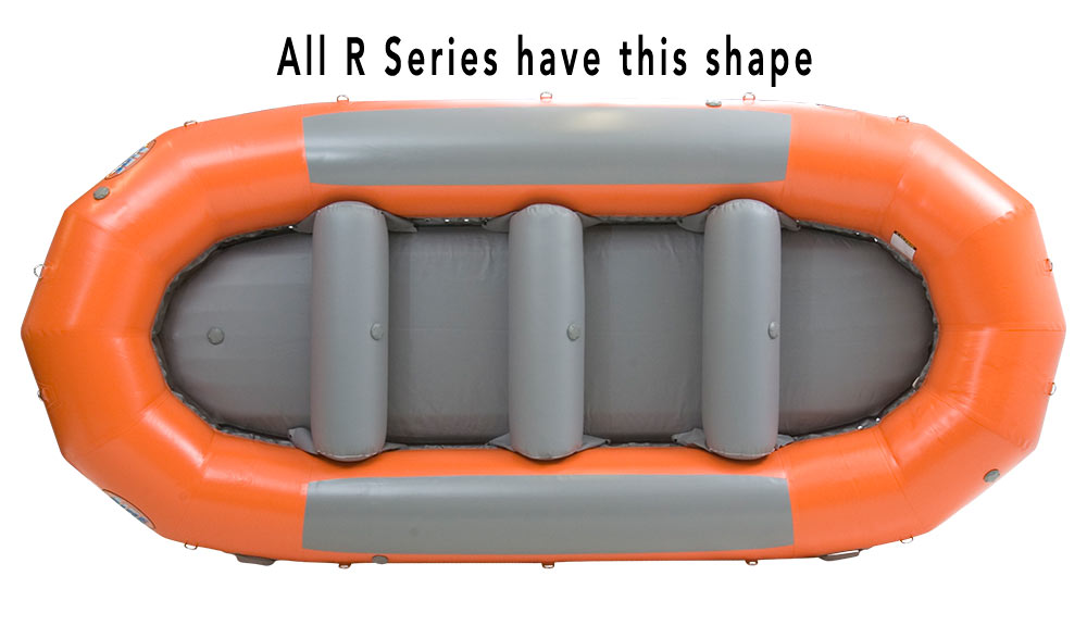 AIRE R Series Rafts all have this shape